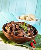 African Stew mit Straussenfleisch