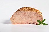 A slice of roasted veal