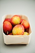 Punnet of Victoria plums