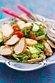 Summer salad with chicken breast