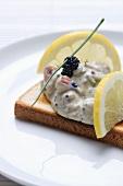 Toast Skagen (Swedish prawn salad on toast)