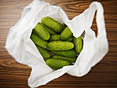 Gherkins in a plastic bag