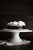 Chocolate cake topped with cream cheese cream