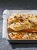 Spicy yeast cake with parsnips and nuts