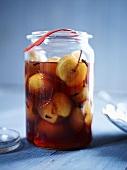 Preserved cinnamon apples