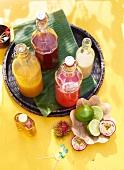 Zutaten für Rum-Punsch mit Melone