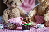 A cupcakes and teddy bears