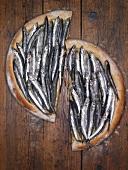 Unleavened bread with boquerones