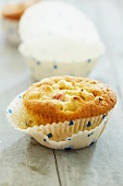 A rhubarb muffin