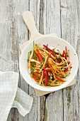 Vegetable salad with chilli peppers