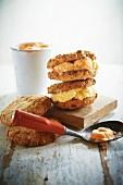 Sandwich-Cookies mit Orangensorbet und Vanilleeis