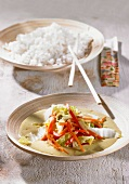 Chinese cabbage curry with rice