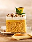 Piece of Vanilla Pudding Cake