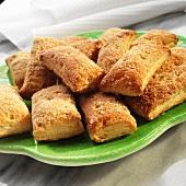Mexican Banderilla Cookies with Sugar and Cinnamon
