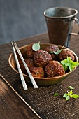 Oriental meat balls
