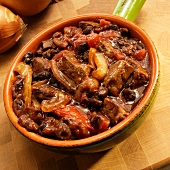Brazilian Beef Stew with Onions, Black Beans and Tomatoes