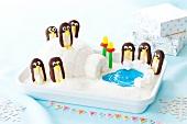 Igloo and Penguin Cake