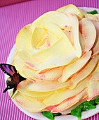 Rose Cake with a Butterfly Decoration