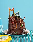 Motocross-Kuchen für die Kinderparty