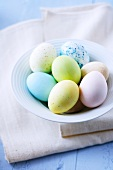 Pastel-coloured Easter eggs