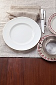 A place setting for Sunday dinner