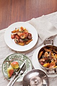 Pork fillet with pears and potatoes