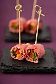Roast beef rolls