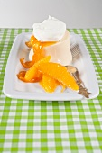 Grand Marnier parfait with orange ragout