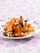 Carrot salad with dates and almonds