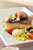Black Cod with Succotash