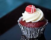 One Red Velvet Cupcake