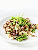 Serving of Bean and Red Quinoa Salad
