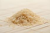 A heap of long-grain rice