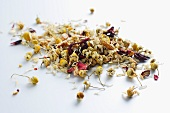 Camomile tea with hibiscus and rose petals (relaxation tea)