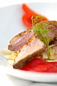 Duck breast with white cabbage (Romania)