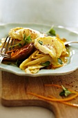 Chicory with figs and cheese