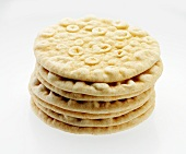 Stack of Pita Breads on a White Background