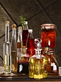 Homemade spirits, juices and preserved fruits and vegetables
