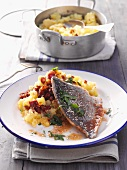 Sea bream with mashed potatoes