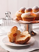 Apricot-filled brioches