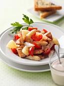 Spargelsalat mit Pute und Kirschtomaten