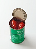 An open tin of tomatoes