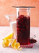 Cherry jam with orange zest