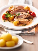 Chicken fillet with a tomato medley and thyme