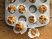 Mini ham and Parmesan muffins