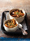 Squash wedges topped with breadcrumbs and baked