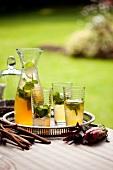 Rooibos iced tea with apple juice