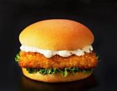 Fisch-Burger mit Remouladensauce