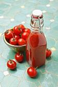 Tomato juice and cherry juice