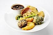 Vegetable tempura with a soy dip (Japan)